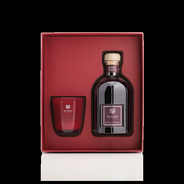 Dr. Vranjes Gift Box Rosso Nobile Candela 80 gr + Diffusore 250 ml con Bastoncini